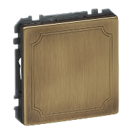 MTN391943 - Blanking cover, antique brass, Artec/Trancent/Antique, Schneider Electric