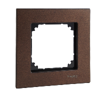 MTN4051-3473 - Wood frame, 1-gang, Walnut, M-Elegance, Schneider Electric