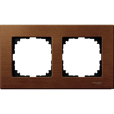 MTN4052-3472 - Wood frame, 2-gang, Cherry wood, M-Elegance, Schneider Electric