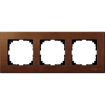 MTN4053-3472 - Wood frame, 3-gang, Cherry wood, M-Elegance, Schneider Electric