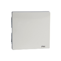 MTN432019 - Rocker IP44, polar white, glossy, System M, Schneider Electric