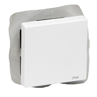 MTN432025 - Rocker IP44, active white, glossy, System M, Schneider Electric