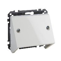 MTN464919 - Inclined outlet, polar white, glossy, System M, Schneider Electric