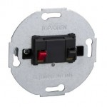 MTN466914 - Loudspeaker connection insert, 1-gang, anthracite, Schneider Electric