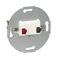 MTN466919 - Loudspeaker connection insert, 1-gang, polar white, Schneider Electric