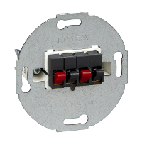 MTN467014 - Loudspeaker connection insert, 2-gang, anthracite, Schneider Electric