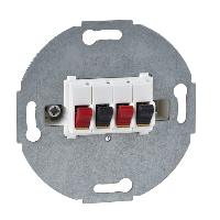 MTN467019 - Loudspeaker connection insert, 2-gang, polar white, Schneider Electric