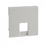 MTN469619 - Cen.pl. f. telephone sock.-out. insert RJ11/RJ12, polar white, glossy, System M, Schneider Electric