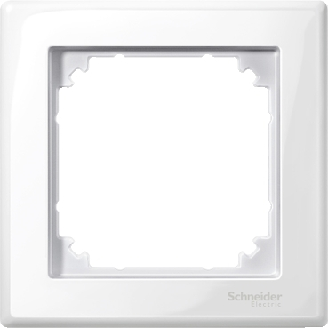 MTN478119 - M-Smart frame, 1-gang, polar white, glossy, Schneider Electric