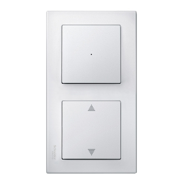 MTN478219 - M-Smart frame, 2-gang, polar white, glossy, Schneider Electric