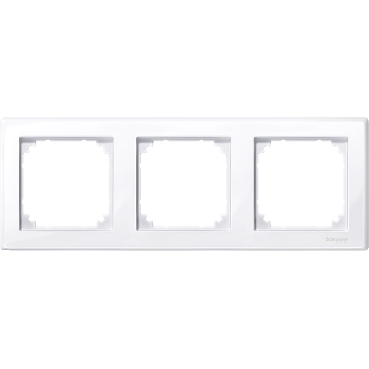 MTN478325 - M-Smart frame, 3-gang, active white, glossy, Schneider Electric