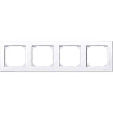 MTN478425 - M-Smart frame, 4-gang, active white, glossy, Schneider Electric