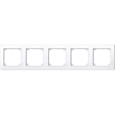 MTN478525 - M-Smart frame, 5-gang, active white, glossy, Schneider Electric