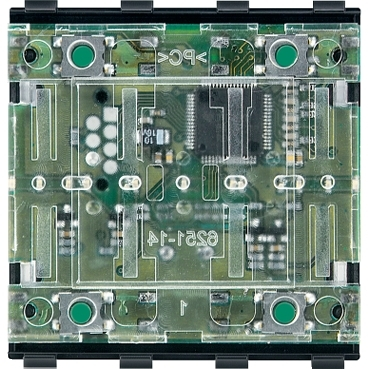 MTN625299 - KNX push-button module, 2-gang, System M, Schneider Electric