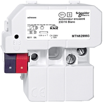MTN629993 - Element executie, incastrat /230/16, alb polar, Schneider Electric