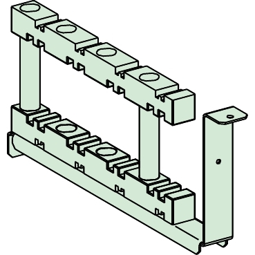 NSYBHS600 - Horizontal bar support up to 3200 A 600 mm, Schneider Electric