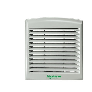 NSYCAG125LPF - outlet grille plast cut out 125x125mm ext dim 137x117mm  IP54, Schneider Electric