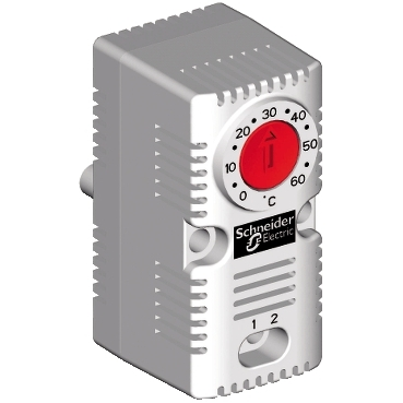 NSYCCOTHC - ClimaSys CC - simple thermostat 250V - range of temperature 0..60?C - NC - ?C, Schneider Electric