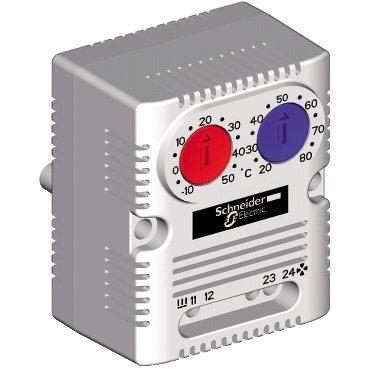 NSYCCOTHD - ClimaSys CC - double thermostat 250V - range of temperature 0..60?C - 1NO/NC - ?C, Schneider Electric