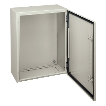 NSYCRN88300P - Spacial CRN plain door with mount.plate. H800xW800xD300 IP66 IK10 RAL7035.., Schneider Electric