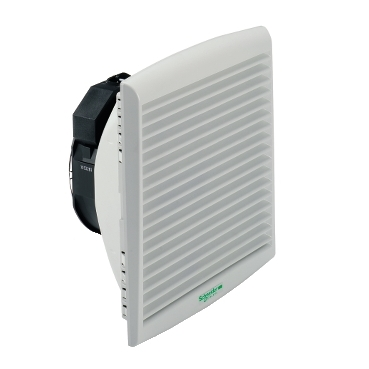 NSYCVF300M24DPF - ClimaSys forced vent. IP54, 300m3/h, 24V DC, with outlet grille and filter G2, Schneider Electric