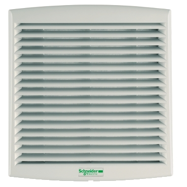 NSYCVF38M24DPF - ClimaSys forced vent. IP54, 38m3/h, 24V DC, with outlet grille and filter G2, Schneider Electric