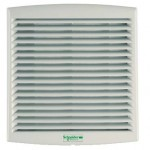 NSYCVF54M230MM2 - Climasys forced vent. 54 m3/h, 230V, 2 metal grilles and 2 anti-insect filters, Schneider Electric