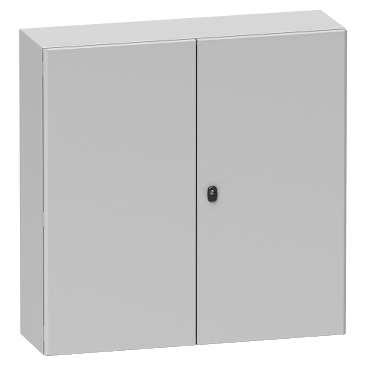 NSYS3D81030D - Spacial S3D dble plain door w/o mount.plate. H800xW1000xD300.IP55 IK10 RAL7035., Schneider Electric