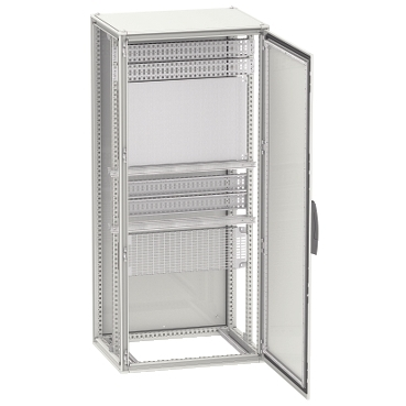 NSYSF20840P - Spacial SF enclosure with mounting plate - assembled - 2000x800x400 mm, Schneider Electric