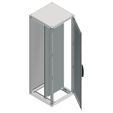 NSYSF20880P - Spacial SF enclosure with mounting plate - assembled - 2000x800x800 mm, Schneider Electric