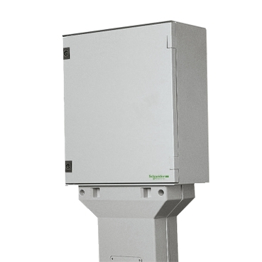 NSYSFSPLMG - floor mounting pillar polyester H=800mm for PLM54 and 64, Schneider Electric