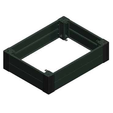 NSYSPF12100 - Spacial SF/SM front plinth - 100x1200 mm, Schneider Electric