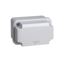 NSYTBS111113H - ABS box IP66 IK07 RAL7035 Int.H105W105D125 Ext.H116W116D133 Opaque cover H80, Schneider Electric