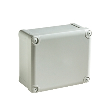 NSYTBS19128 - ABS box IP66 IK07 RAL7035 Int.H175W105D80 Ext.H192W121D87 Opaque cover H20, Schneider Electric