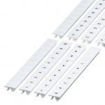 NSYTRAB1010 - Clip in marking strip, 10mm, 10 characters 1 to 10, printed horizontally, white, Schneider Electric