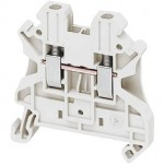 NSYTRV22WH - Linergy passthrough terminal block - 2.5mmp 24A single-level 1x1 screw - white, Schneider Electric