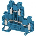 NSYTRV24DBL - Linergy passthrough terminal block - 2,5mmp 24A double-level 1x1 screw - blue, Schneider Electric