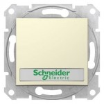 SDN1600347 - Sedna - 1pole pushbutton - 10A label, locator light, without frame beige, Schneider Electric