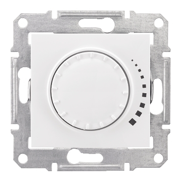 SDN2200521 - Sedna - 2way rotary pushbutton dimmer - 500VA, without frame white, Schneider Electric