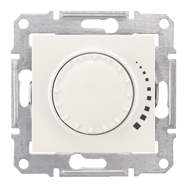 SDN2200523 - Sedna - 2way rotary pushbutton dimmer - 500VA, without frame cream, Schneider Electric