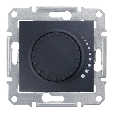 SDN2200570 - Sedna - 2way rotary pushbutton dimmer - 500VA, without frame graphite, Schneider Electric