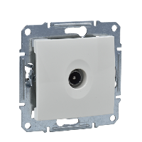 SDN3201647 - Sedna - TV connector ending - 1dB without frame beige, Schneider Electric