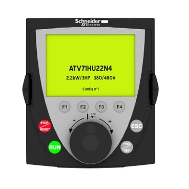 VW3A1101 - remote graphic terminal - 240 x 160 pixels - IP54, Schneider Electric