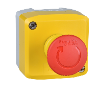 XALK178 - yellow station - 1 red mushroom head pushbutton diametru 40 turn to release 1NC, Schneider Electric