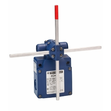 XCKVR54D1H29 - limit switch XCKVR - stay put crossed rods lever 6mm - 2x(2 NC) - slow - M20, Schneider Electric