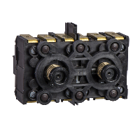 XESD2201 - spring return contact block - 3 NO - front mounting, 40 mm centres, Schneider Electric