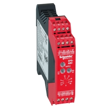 XPSABV11330P - module XPSABV - stop and switch monitoring - 24 V AC/DC, Schneider Electric
