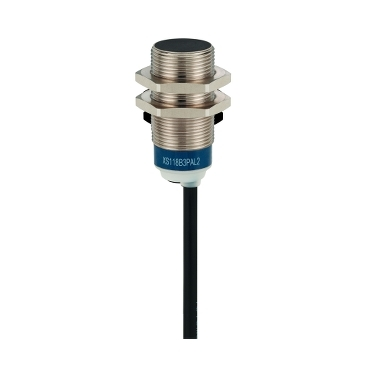 XS118B3PAL2 - inductive sensor XS1 M18 - L39mm - brass - Sn8mm - 12..24VDC - cable 2m, Schneider Electric