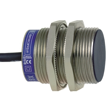 XS1N30PA349L1 - inductive sensor XS1 M30 - L43mm - brass - Sn20mm - 12..24VDC - cable 5m, Schneider Electric