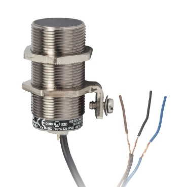 XS630B1PAL10EX - inductive sensor XS6 M30 - L62 mm - brass - Sn15mm - 12..48VDC - cable 10m, Schneider Electric
